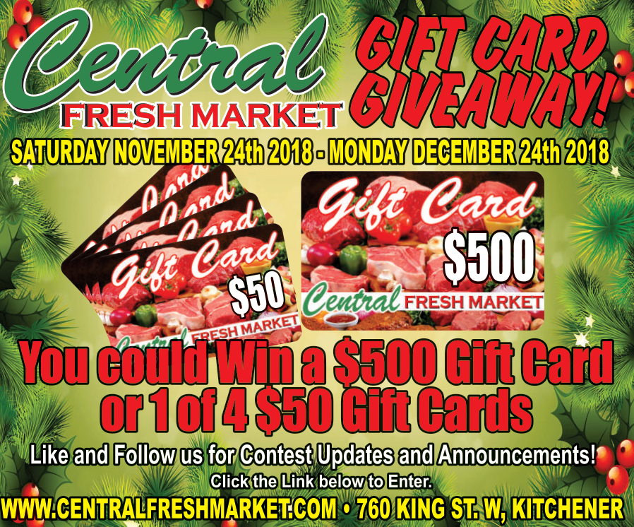 Win a $500 Gift Card or 1 of 4 $50 Gift Cards